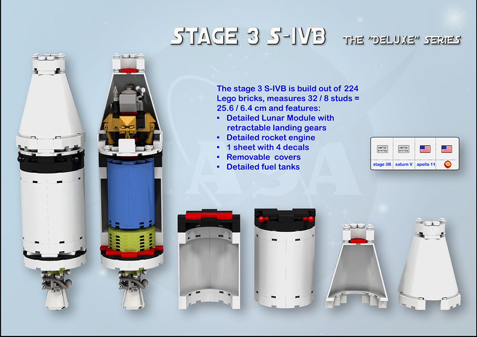 Lego Apollo 11 Saturn V Rocket Concept The Eagle Has