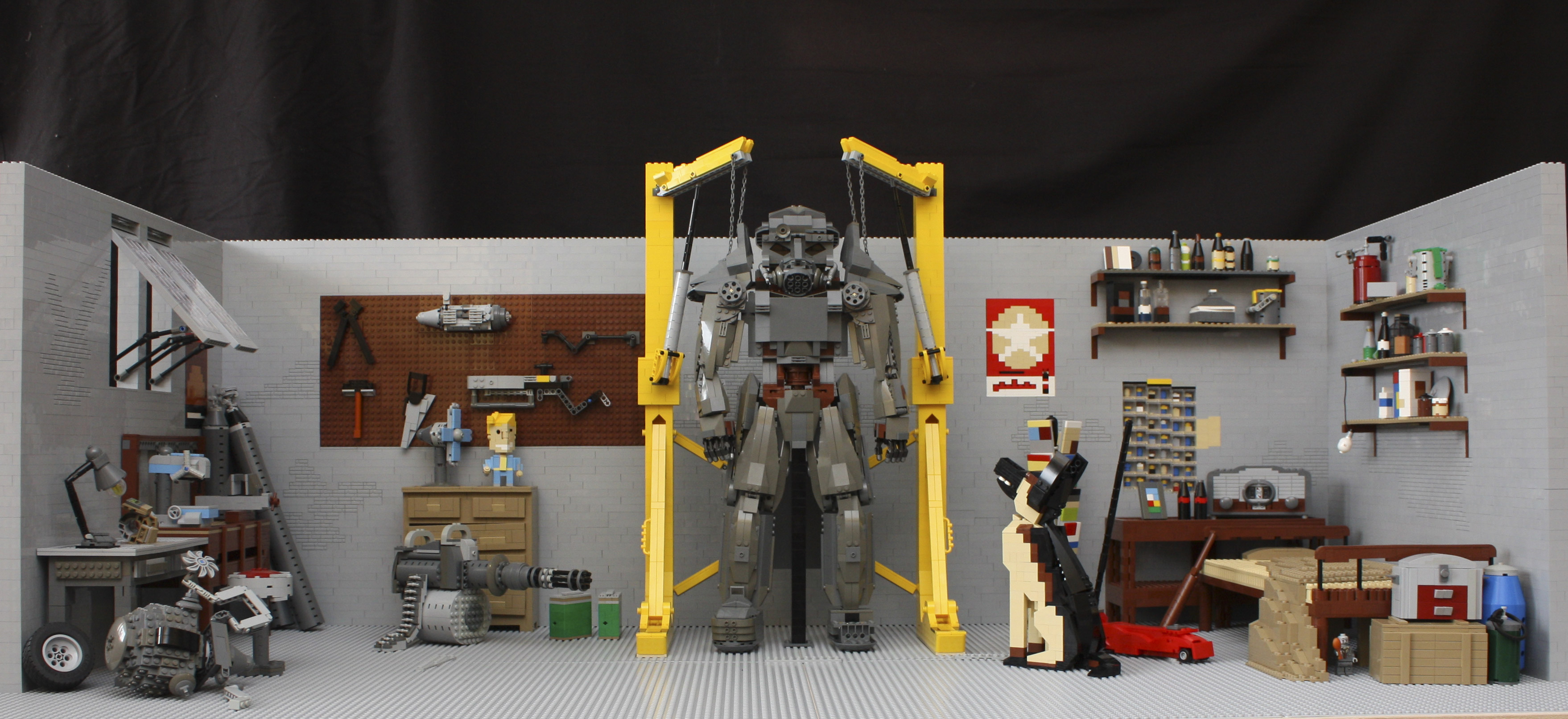 Fallout 4 lego garage is insanely detailed technabob for A 1 garage