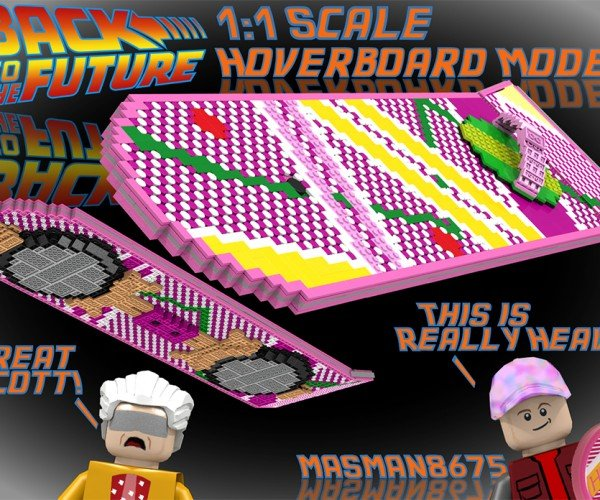 Life-size LEGO Back to the Future 2 Hoverboard Concept Might Literally Be Heavy