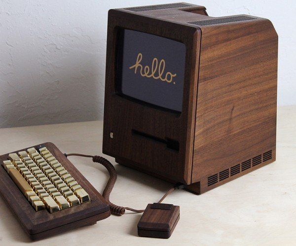 Wooden Macintosh 128K Replica: The Golden Apple