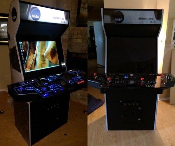 Gamer Creates Awesome NASA Themed Arcade Cabinet