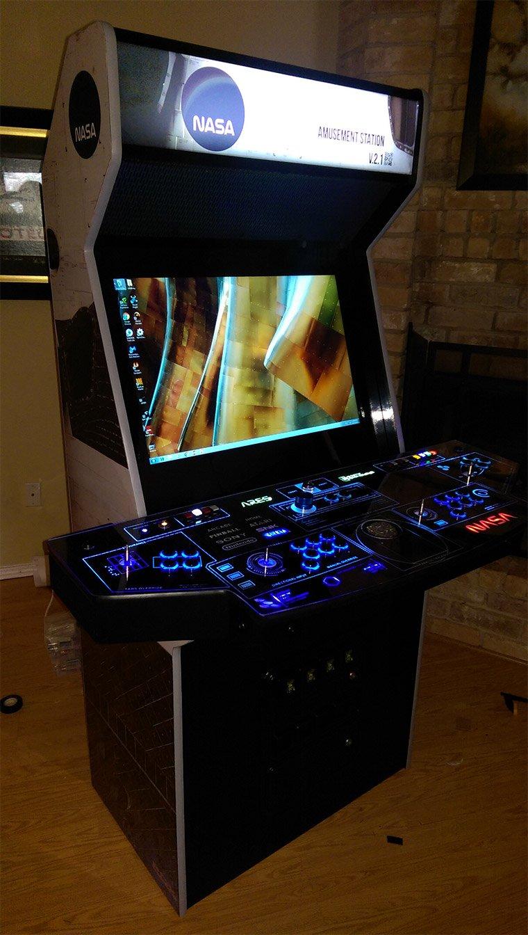 Gamer Creates Awesome Nasa Themed Arcade Cabinet Technabob