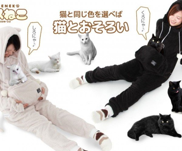 Japanese Cat Suit Carries Your Cat in a Cat Pouch, Isn't Weird at All