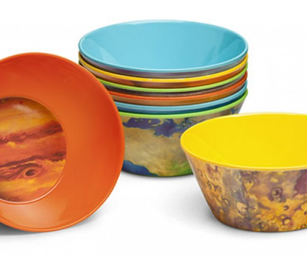 Planetary Bowls Put Your Cereal in the Milky Way