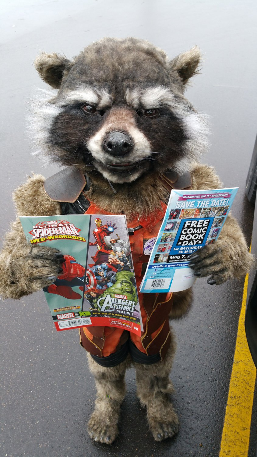 DIY Kid's Rocket Raccoon Costume: Guardian of the Front Porch ...