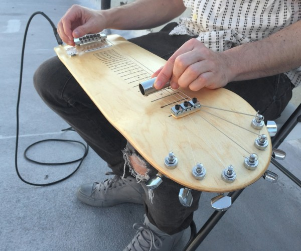 Skateboard + Electric Guitar = Skate-O-Caster