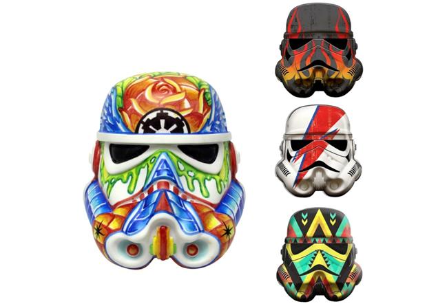 Star Wars Design A Vinyl Stormtrooper Helmet Rainbow Fett