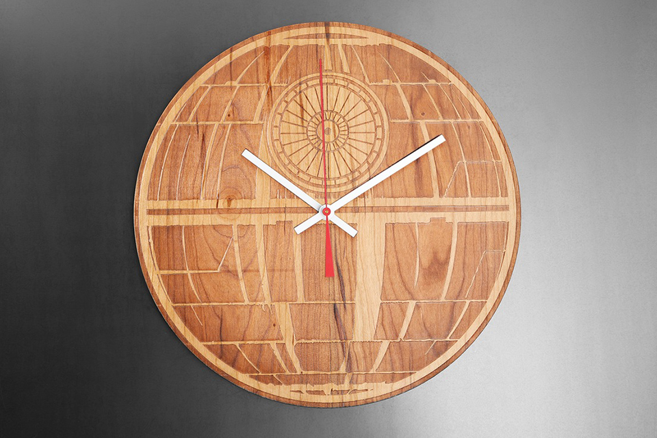Star Wars Engraved Wood Clocks: This One, A Long Time You