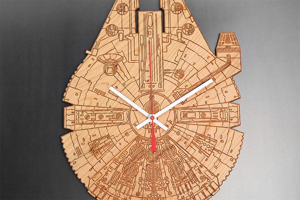 Star Wars Engraved Wood Clocks This One A Long Time You