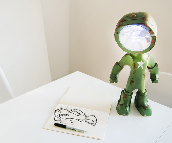 Lampster is a Bipedal LED Lamp of Awesome