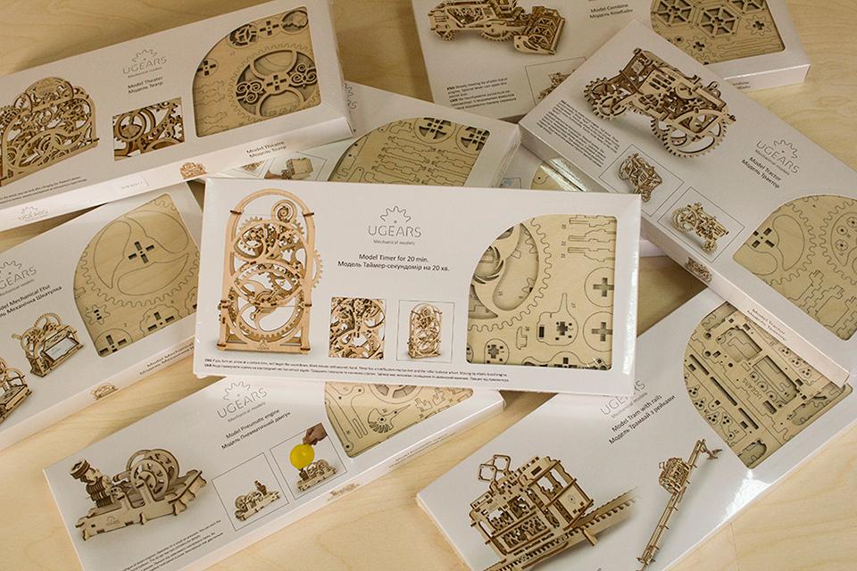 Ugears Wooden Mechanical Models Rubberpunk