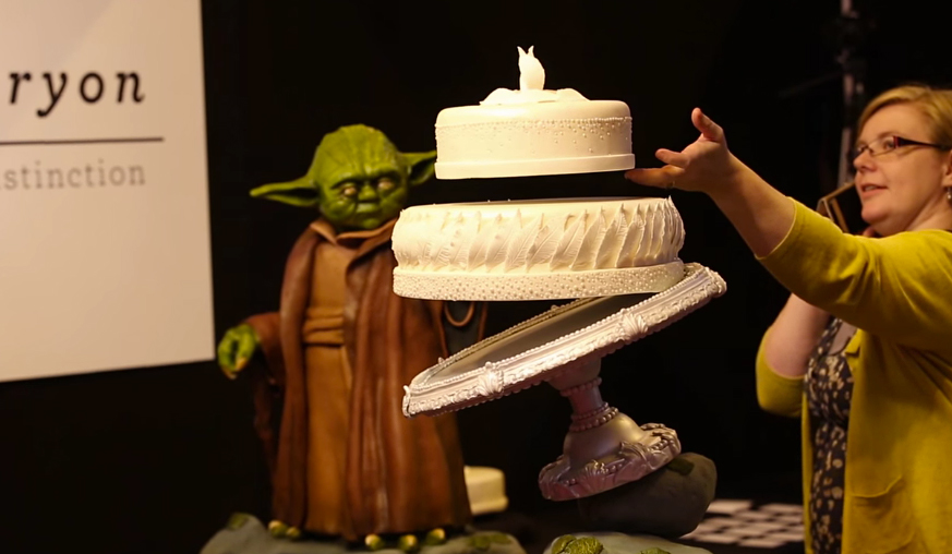 Yoda Cake With Floating Wedding Cake A Jedi Craves This Thing