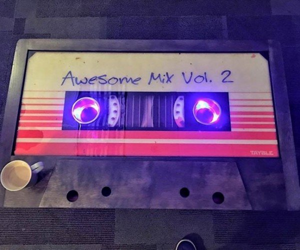 James Gunn Shows off Awesome Mix Coffee Table