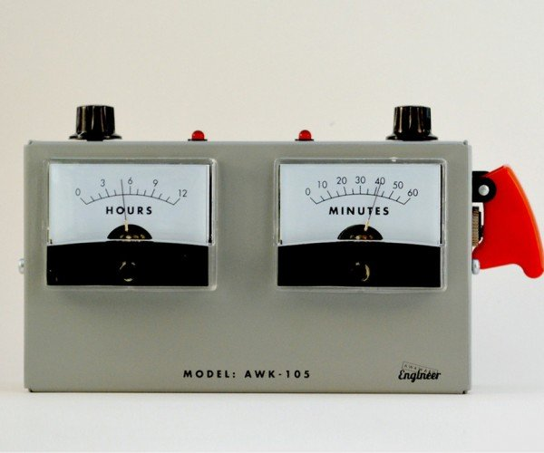 Voltmeter Analog Alarm Clock: Stay Current