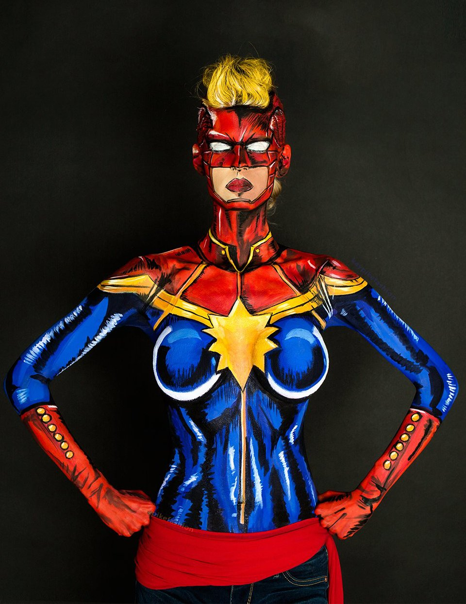 2D Body Paint Cosplay: Maybe Shes Mystique - Technabob