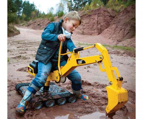 Toddler-size Caterpillar Digger Toy Really Works