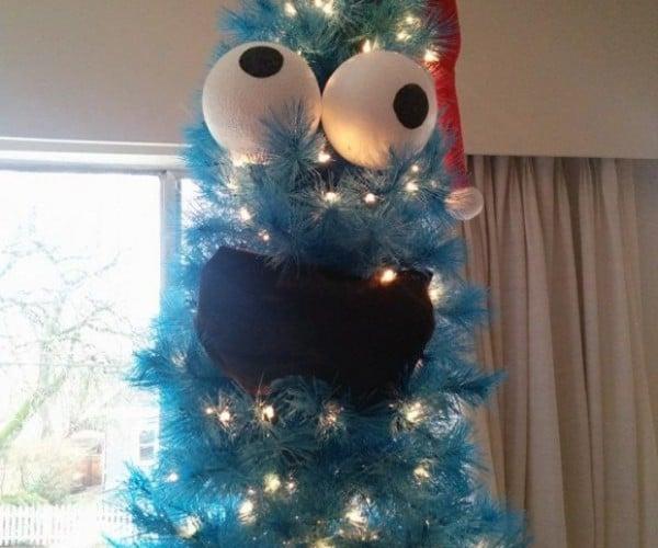 Cookie Monster Christmas Tree: Merry COOOKIEEEEE!