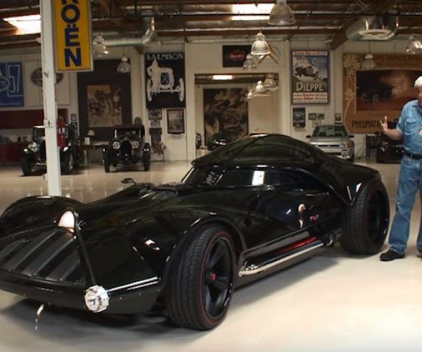 Jay Leno Test Drives the Life-size Darth Vader Hot Wheels Car