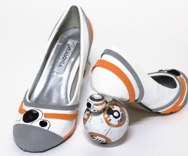 DIY BB-8 Shoes: Roller Heels