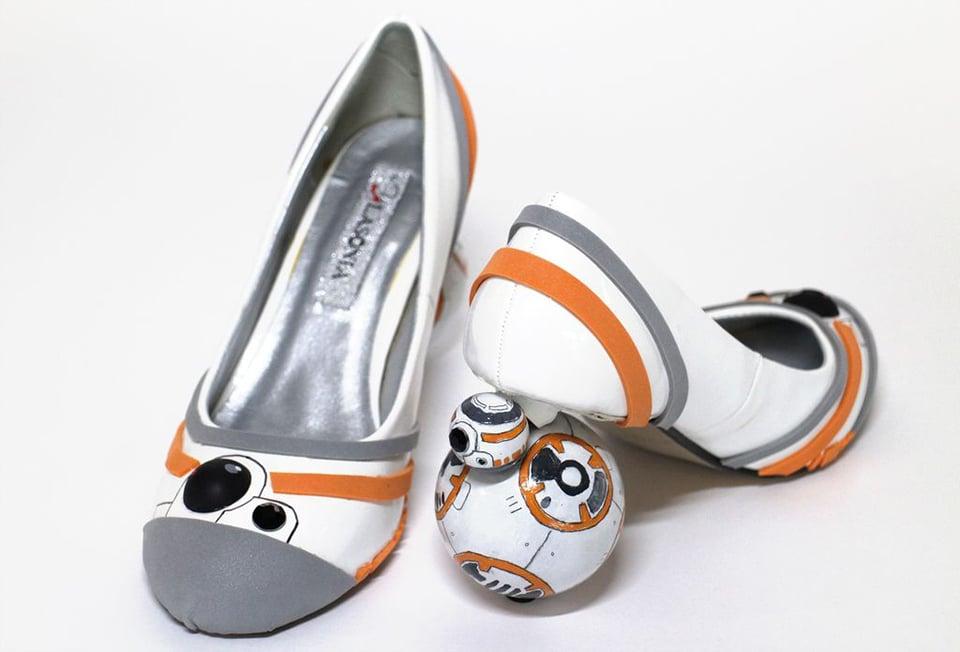 DIY BB-8 Shoes: Roller Heels - Technabob