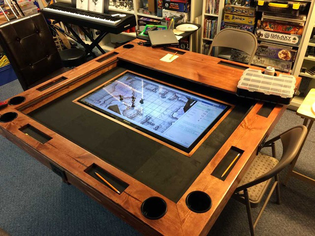 diy tabletop gaming table world building technabob. Black Bedroom Furniture Sets. Home Design Ideas