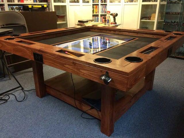 DIY Tabletop Gaming Table World Building Technabob