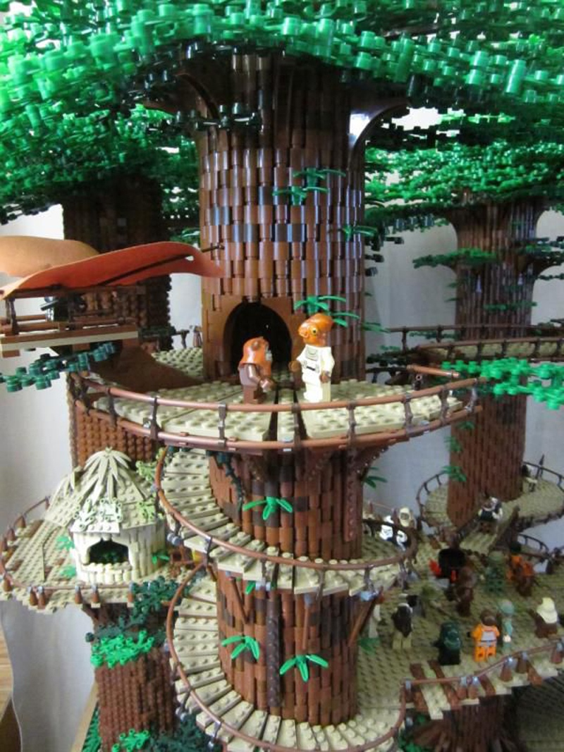 3 Foot Tall Lego Star Wars Ewok Village Is Taller Than