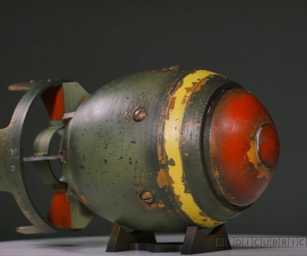 3D Printed Fallout-inspired Mini Nuke: Microton Bomb