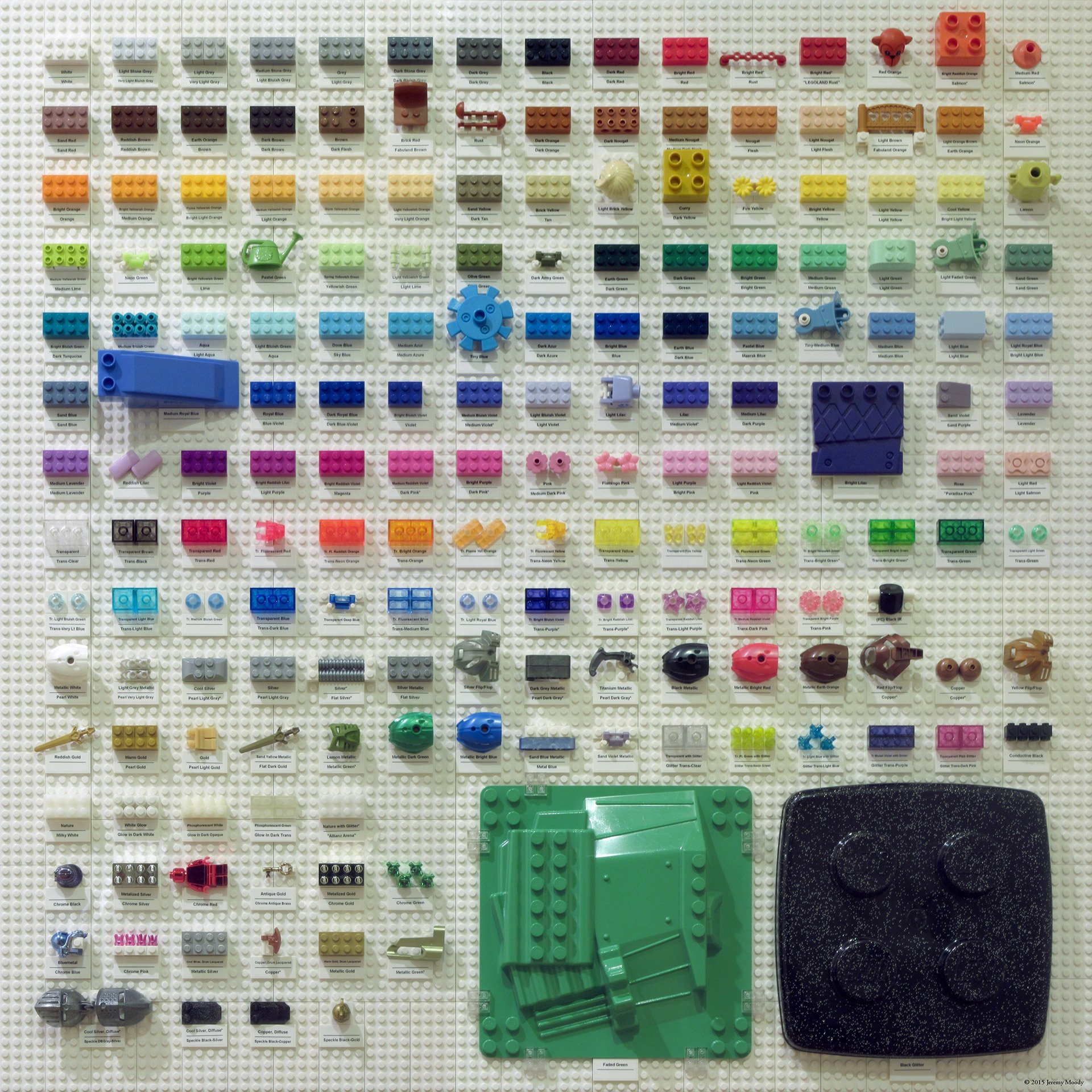 A chart of every lego color for All brick