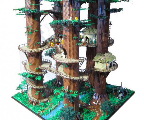 3 Foot Tall LEGO Star Wars Ewok Village Is Taller than Most Ewoks