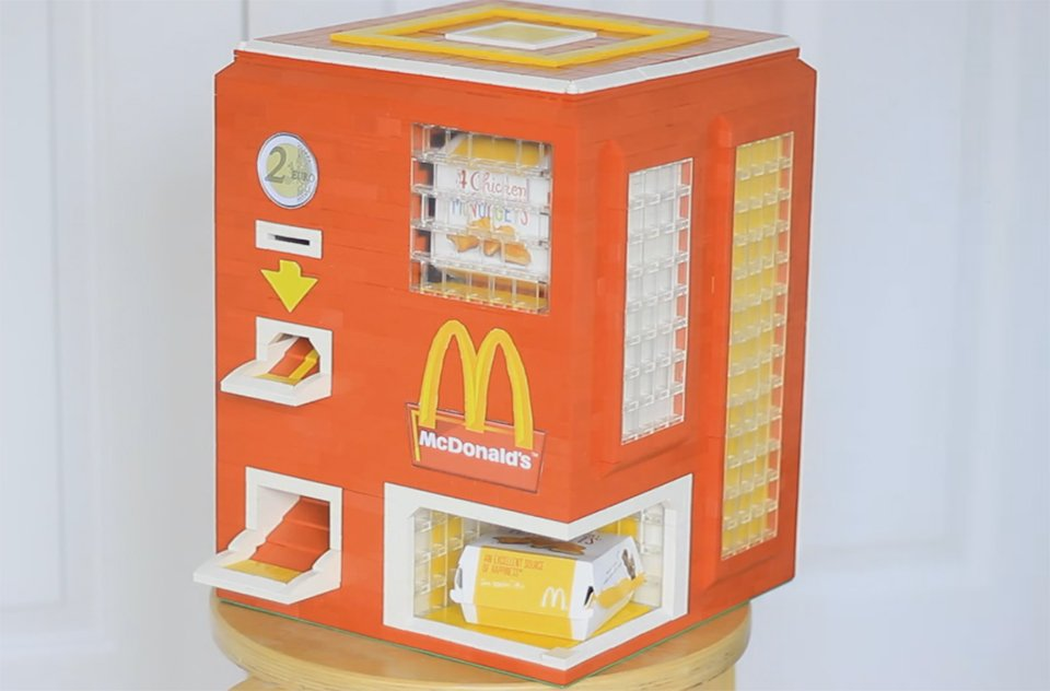 DIY LEGO McDonald's Chicken McNuggets Vending Machine: Off the Chain ...