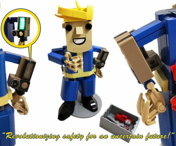 Fallout's Vault Boy in LEGO Form