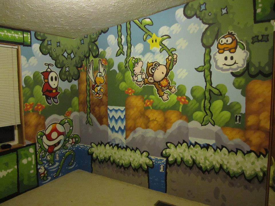 Guy paints awesome mario themed room for a friend technabob for Bedrooms decoration games