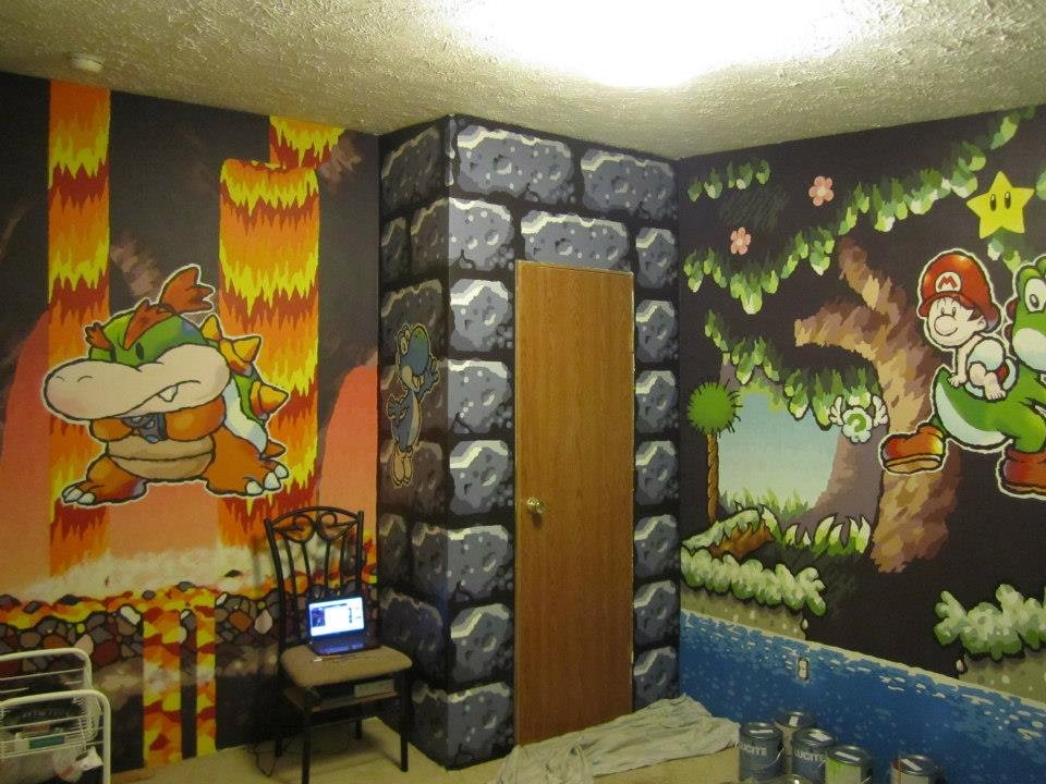 Guy Paints Awesome Mario Themed Room For A Friend
