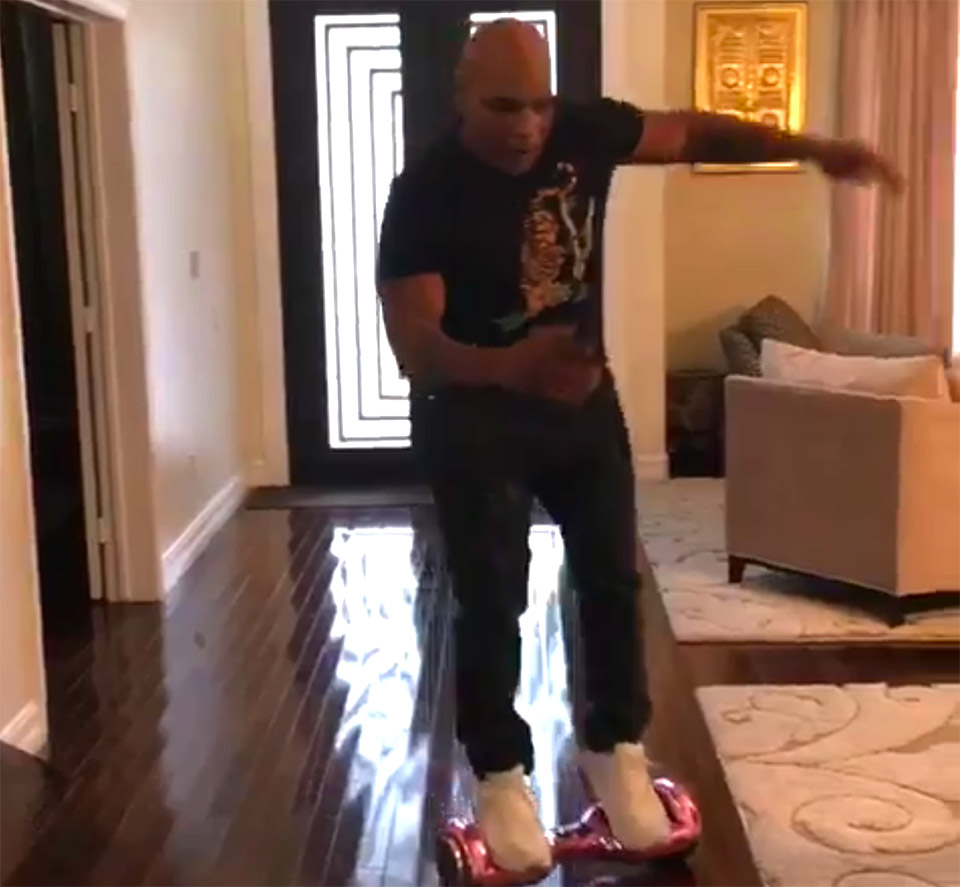Mike Tyson Busts His Ass on a Hoverboard - Technabob
