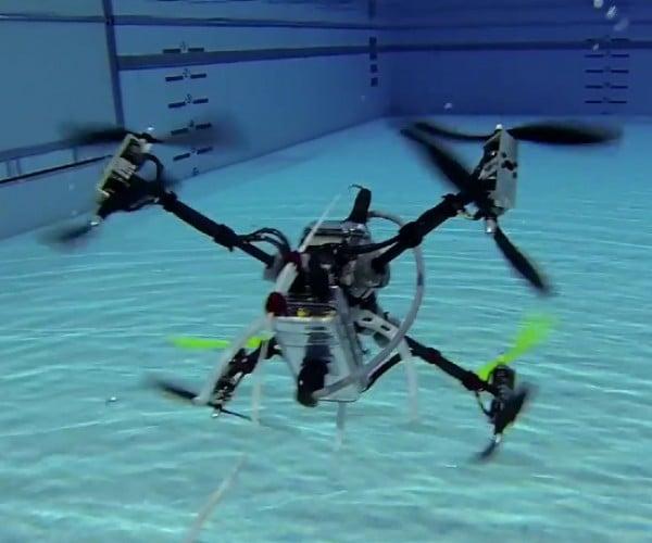 Drone Flies & Swims Underwater: Naviator