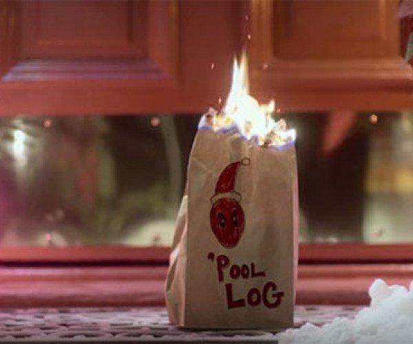Deadpool's 'Pool Log Is the Yule Log Nobody Wants