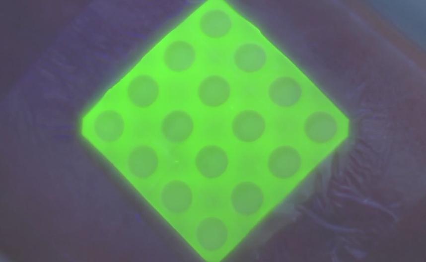 Prototype Bandage Glows Under Uv Light When It Detects
