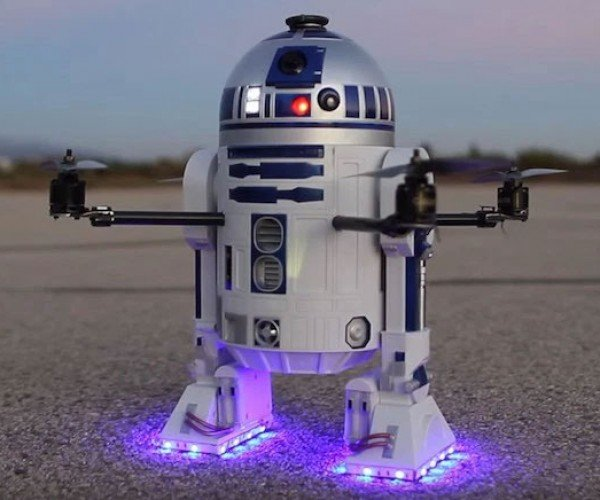 DIY R2-D2 Drone Takes Flight