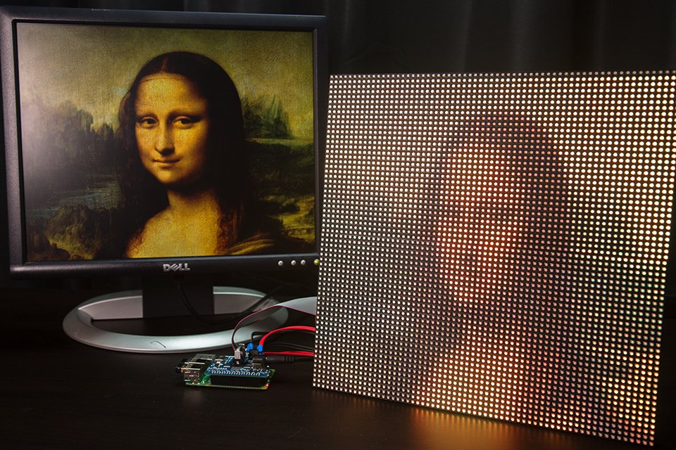 diy raspberry pi led matrix display pixels technabob. Black Bedroom Furniture Sets. Home Design Ideas
