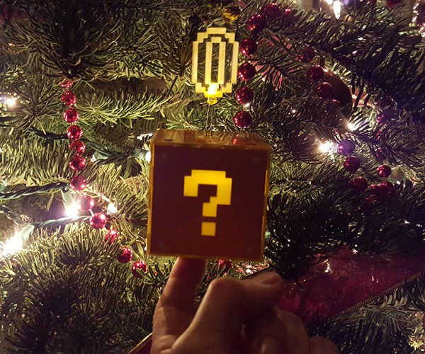 Touch-sensitive Question Block One Ups Other Christmas Ornaments