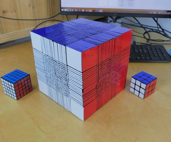 3D Printed 22x22x22 Rubik's Cube: A Headache Cubed