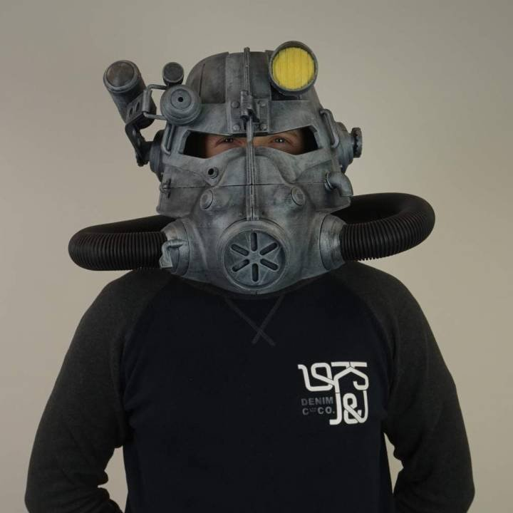 3d Printed Fallout Power Armor Helmet Science