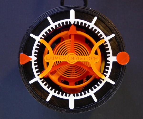 3D Printed Tourbillon Watch: 4D Printing