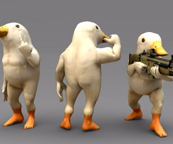 Birds in the Buff with Weapons: Armed Avians