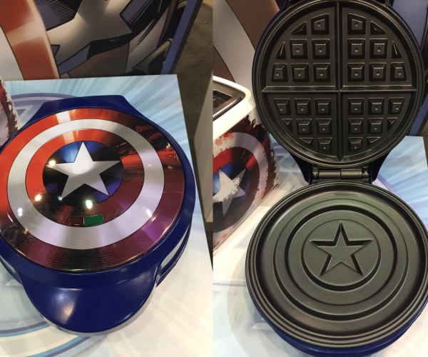 Captain America Waffle Iron Makes Tony Stark Jealous