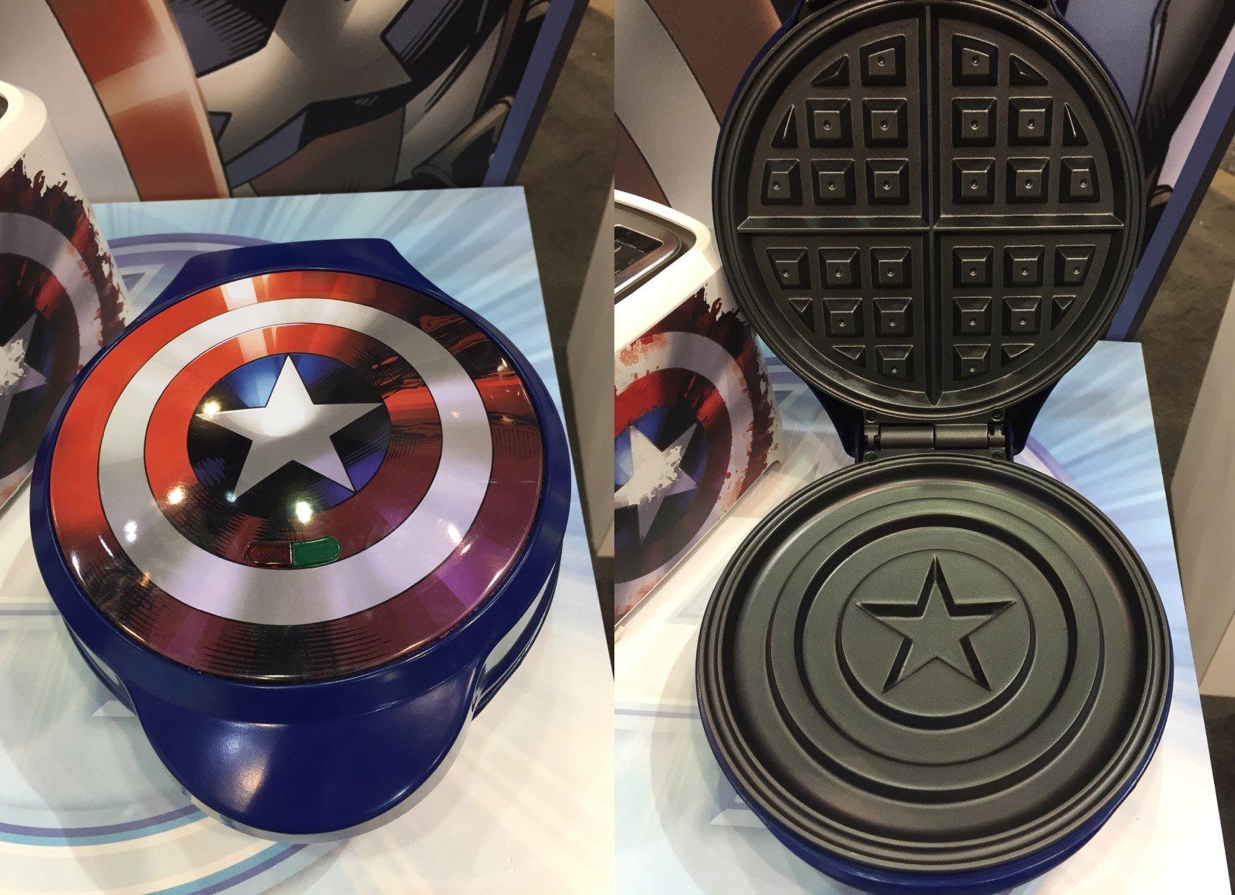 captain america waffle iron makes tony stark jealous technabob