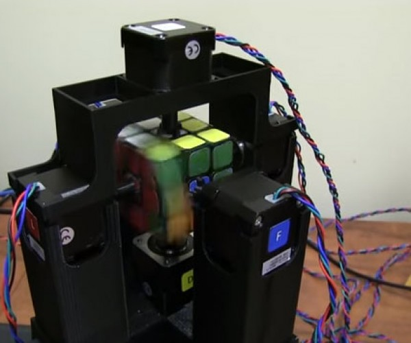 Rubik's Cube Solving Robot Does the Deed in about a Second
