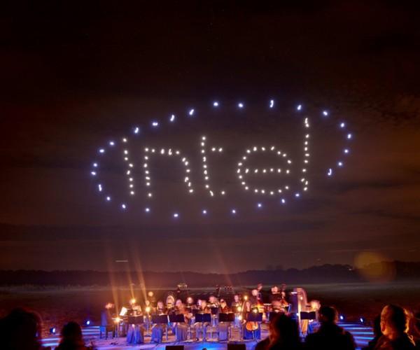 100 Dancing Drones: Space Pixels in Flight