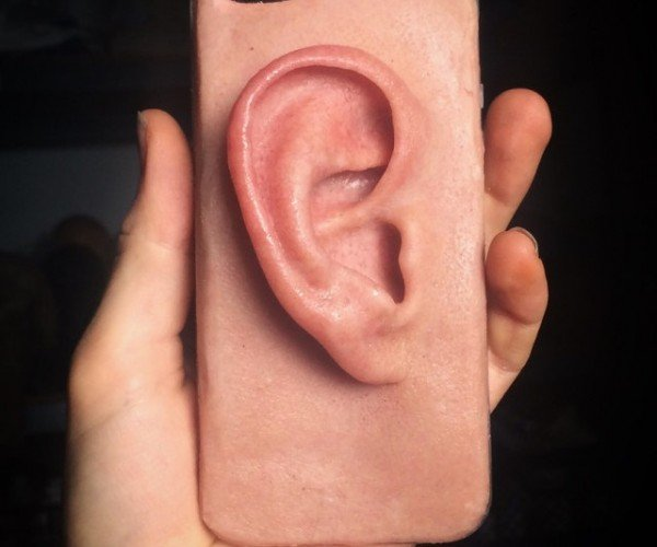 Phone Case Looks and Feels Like a Realistic Human Ear: Lend Me Your Ear
